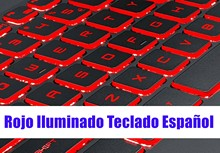 Spanish Red backlit keyboard for MSI GL62M 7RC(MS-16JD)/GL62MVR 7RFX(MS-16JB)/GL62 7RDX/GL62M 7RDX/GL62M 7REX(MS-16J9)(China)