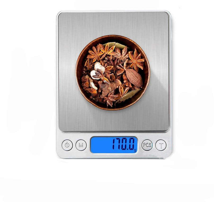 1/2/3kg 0.01/0.1g Digital Scale LCD Electronic Weighing Scale Mini Precision Grams Weight Balance Scale for Kitchen Tea Baking