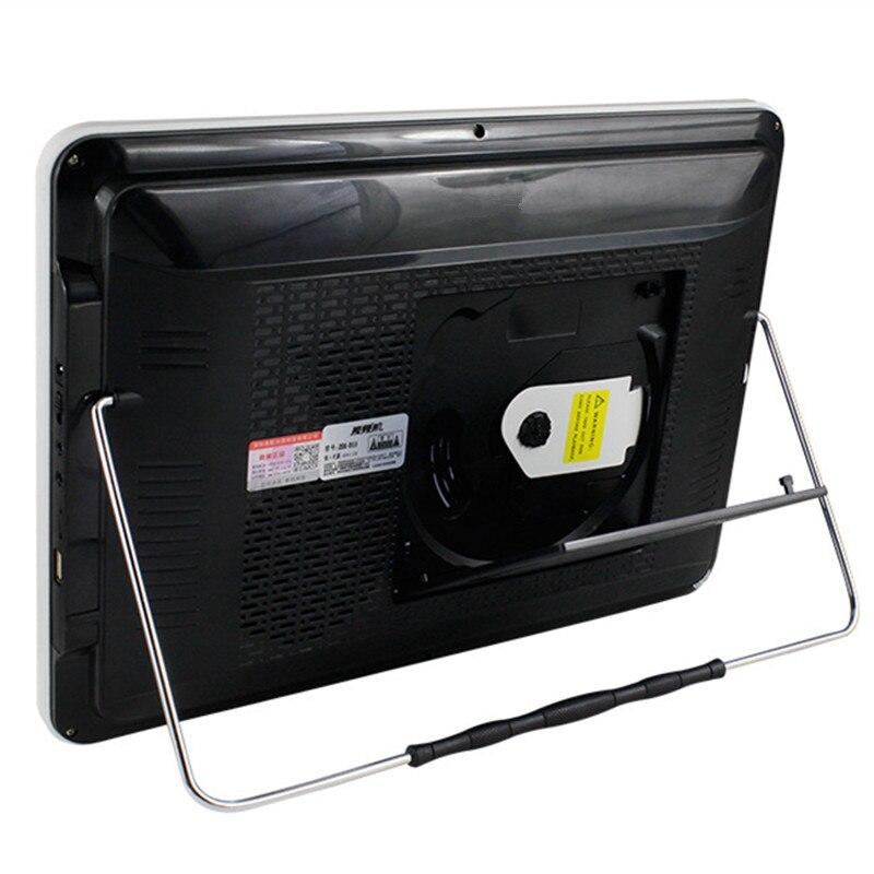 Portable 19 mobile DVD disc machine 14.1 inch HD screen video audio sound TF card usb U disk player speaker AV input output mp3 - 6