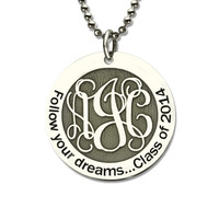 Personalized Monogram Necklace 925 sterling silver Chain silver color Choker Custom Initials Pendant Necklace Women Jewelry 2019