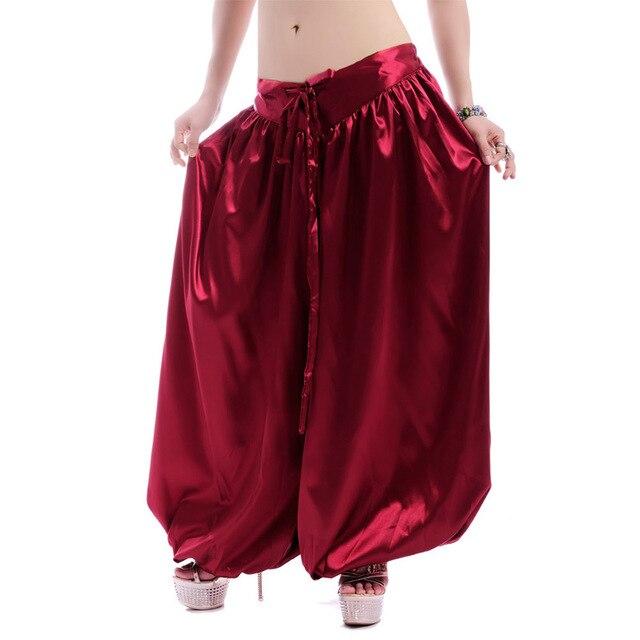 Ipek taklit Harem uzun pantolon kabile tarzı oryantal dans pantolon oryantal dans kostümü oryantal dans performansı giyim ATS olgunlaşanlar