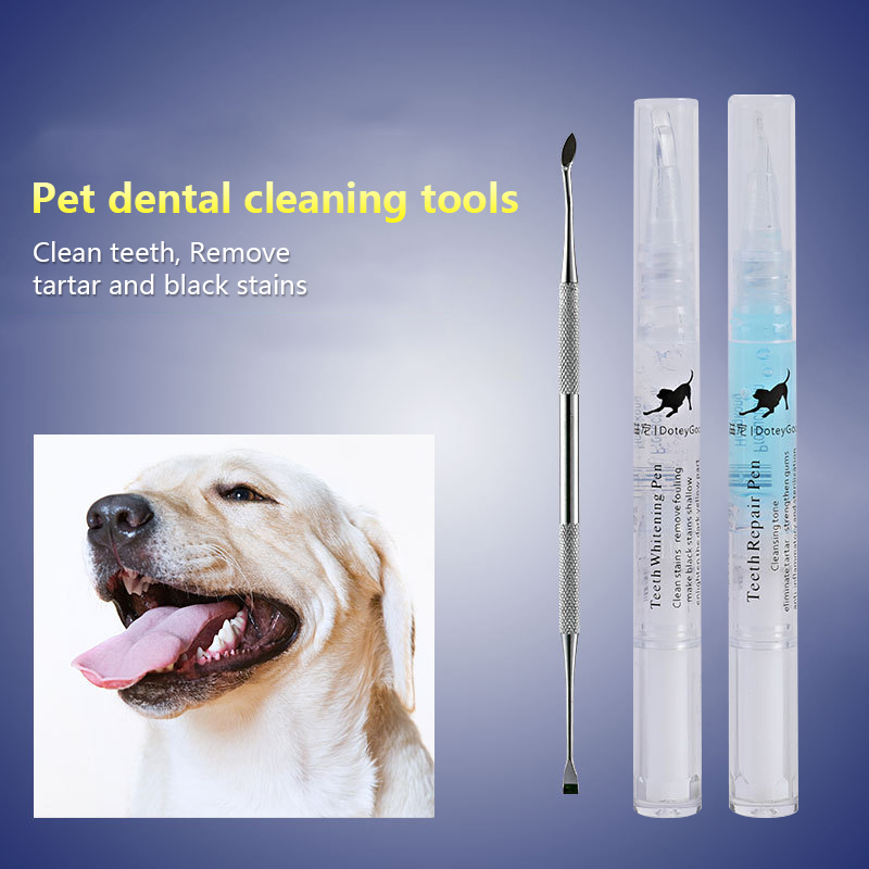 2/3Pcs Pets Teeth Cleaning Tool Pets Dog Teeth Cleaning Whitening Pen Teeth Cleaning Pen Dogs Cats Natural Plants Tartar Remover