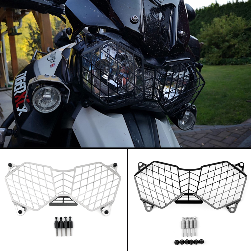 Areyourshop For Triumph Tiger 800 XC/XCX/XR/XRX 1200 & 1200XC Explorer Headlight Guard Protector Grill Cover Motorcycle