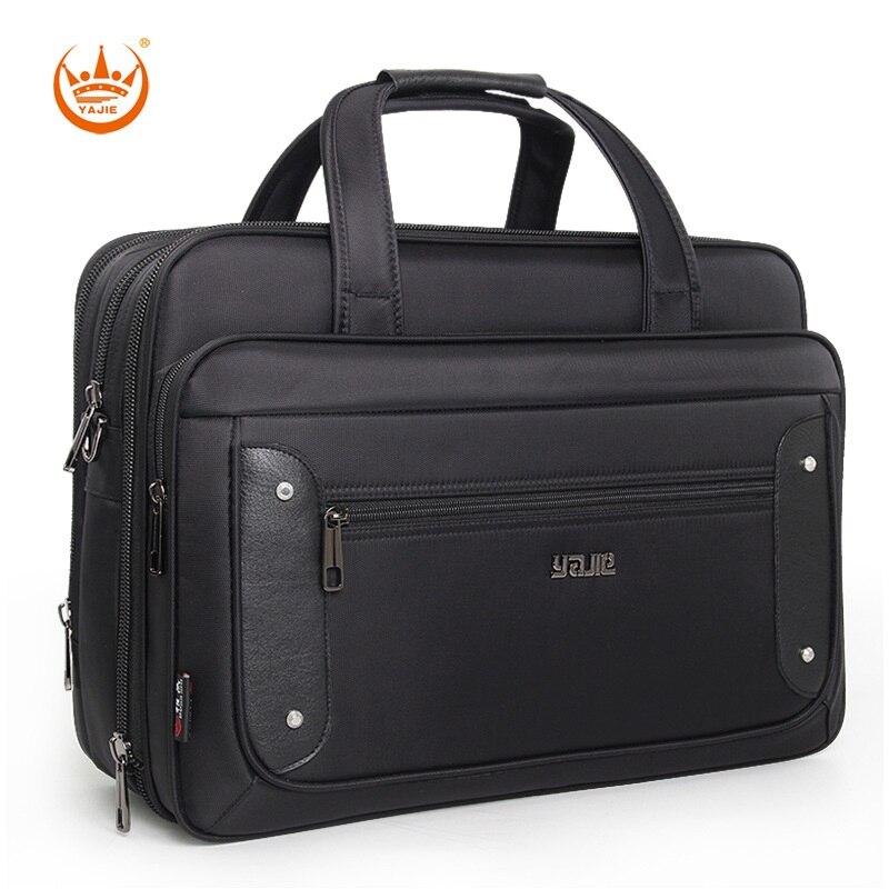 Brand Men Large Capacity Briefcase 15.6 17 Inch Laptop Business Handbag For Men Travel Waterproof Oxford Messenger Shoulder Bag