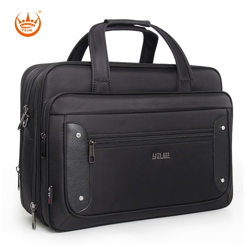 Quality Business Men 15.6 17 Inch Laptop Large Capacity Waterproof Travel Shoulder Strap Briefcase