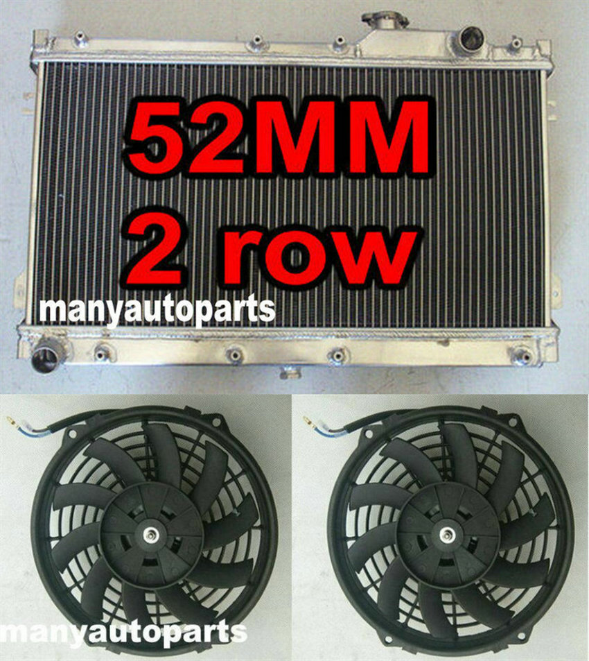 fan 90-97 MAZDA MIATA MX5 MX-5 MX V MT 91 92 93 52MM aluminum radiator