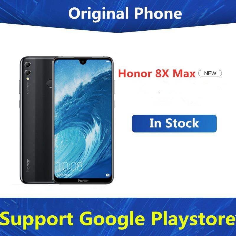 Глобальный Встроенная память Honor 8X MAX 4 аппарат не привязан к оператору сотовой связи Android телефон Snapdragon 660 7,12