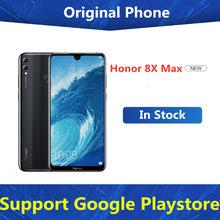 Honor – téléphone portable 8X MAX, Rom Global, 4G LTE, Android, Snapdragon 660, écran de 7.12 pouces, batterie de 5000mAh, 6 go de RAM, 128 go de ROM, empreintes digitales, caméra de 16 mp, double Sim