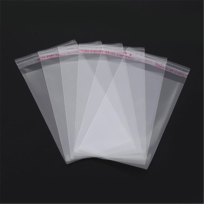 100 шт. несколько Размеры прозрачный самоклеящийся целлофановый пакет самоуплотняющийся небольшой Пластик сумки для упаковки конфет закрыв...