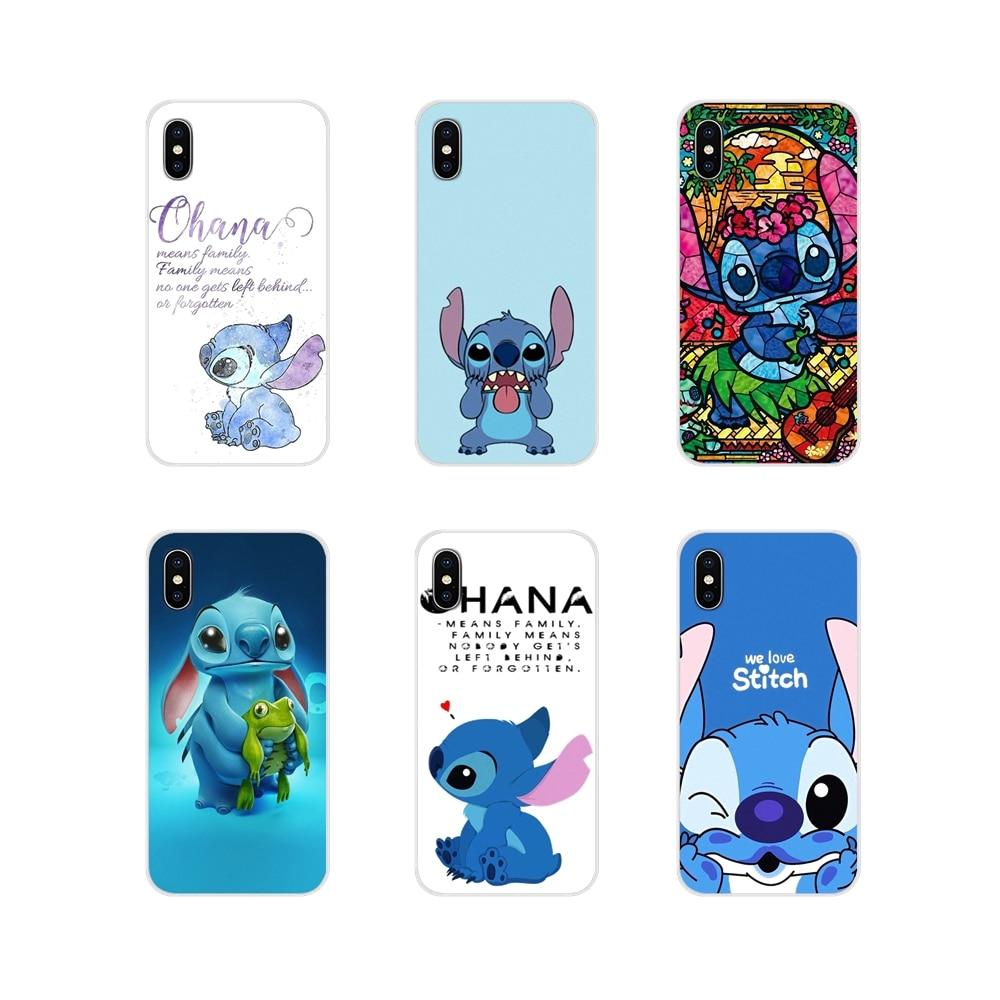 Cell Phone Shell Cover For Motorola Moto X4 E4 E5 G5 G5S G6 Z Z2 Z3 G G2 G3 C Play Plus Lilo And Stitch Quote Ohana Means Family