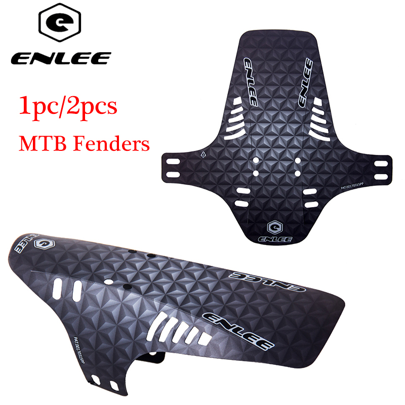 2pcs ENLEE MTB Mudguard Front Rear Bicycle Fender Suitable For Front Fork Rear Wheel Fender Enduro Mud Guard Cycling Accessories