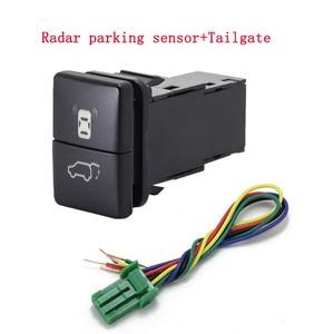 Image 2 - 1 adet çift anahtar anahtarı çift anahtarı sis işık kaydedici radar güç kaynağı gündüz çalışan ışık anahtarı düğme Toyota için yeni