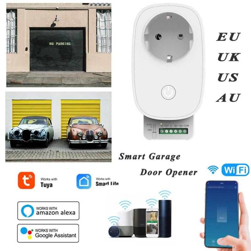 Открывалка для гаражных дверей с Wi-Fi, устройство управления умным домом, совместимо с Tuya Smart Life, Alexa, Google Home, IFTTT, GPS, с большим диапазоном срабат...