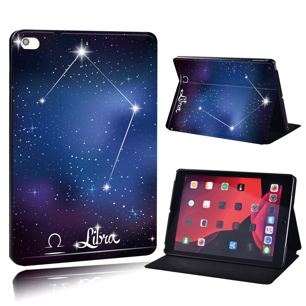 star sign - Pisces Brown For Apple iPad 8 10 2 2020 8th 8 Generation A2428 A2429 PU Printed Star Sign