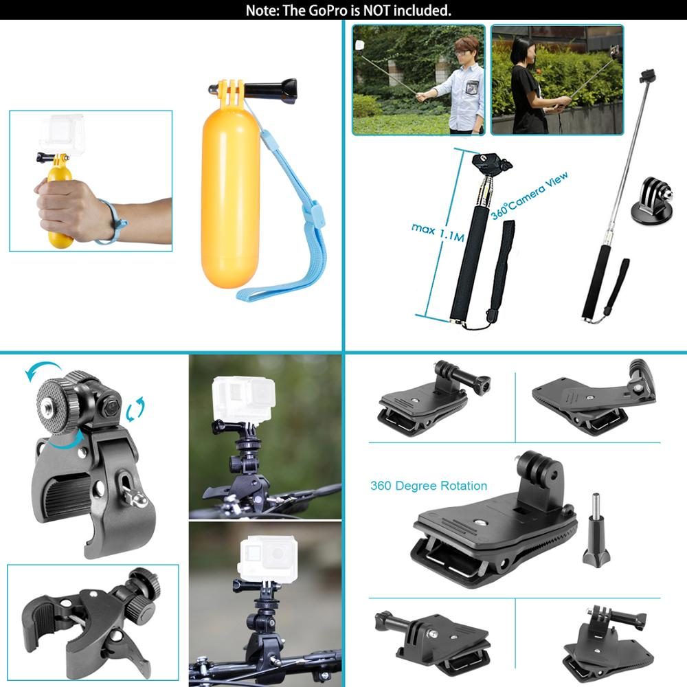 Neewer for GoPro Accessories Set for Go Pro Hero 8 7 6 5 4 Black Mount for Xiao Yi 4k Mijia Case for Sjcam Action Camera-1