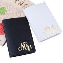 Mr&Mrs Travel Passport Cover Wallet Purse Women Men Credit Card Holder ID Document Bag Pouch Case