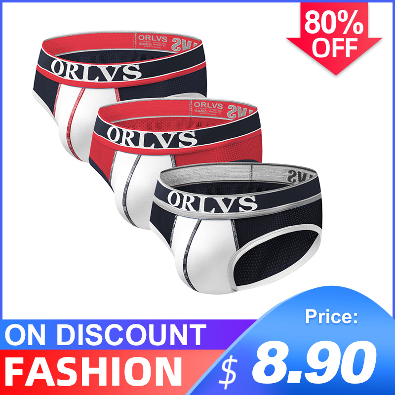 3Pcs/lot Cotton Solid Breathable Sexy Undenwear Men Jockstrap Briefs InnerwearBikini Gay Men Underwear Male Jock Strap Cueca