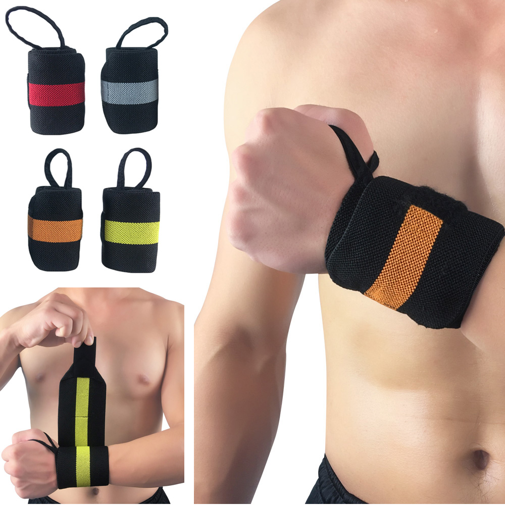 Support Training Weightlifting Wristband Bandages Bracers Striped Pattern 1 PC