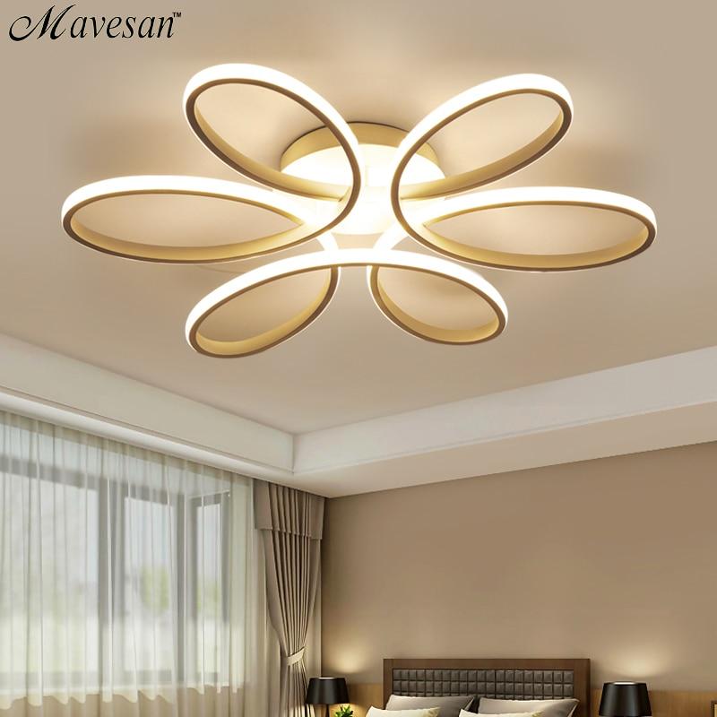 Modern Led Chandelier Lamp Lighting Novelty Living Room Lustre Lamparas Ceiling Lamp For Bedroom 72W 90W 120 Wlampadario Moderno