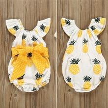 Sweet Cute Body Suits 2019 Newborn Baby Girls Pineapple Prin