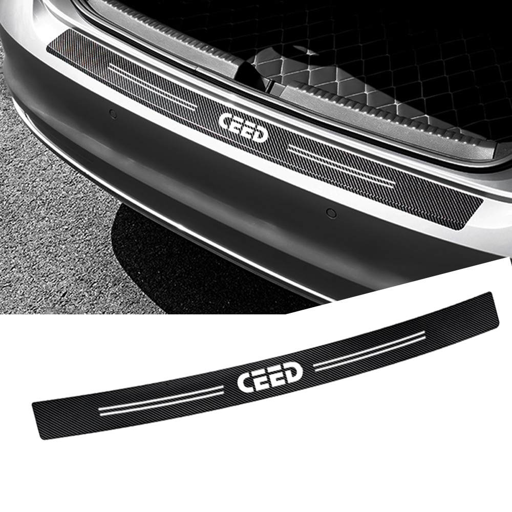 Auto Rear Bumper Trunk Carbon Fiber Protection Sticker Decal Car Styling For Kia Ceed 2017 2018 2013 2010 2011 Accessories