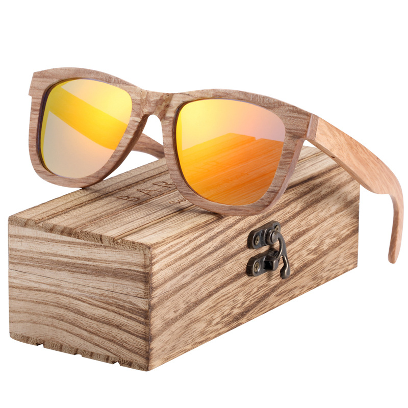 BARCUR Natural Wooden Sunglasses for Men Polarized Sunglasses Wood oculos de sol feminino frete gratis 8