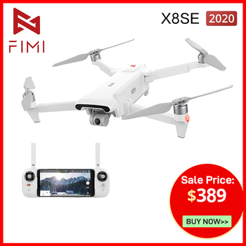 Newest FIMI X8 SE 2020 Version Drone 8KM FPV with 3-Axis Gimbal 4K Camera HDR Video GPS RC Drone Quadcopter RTF with Battery