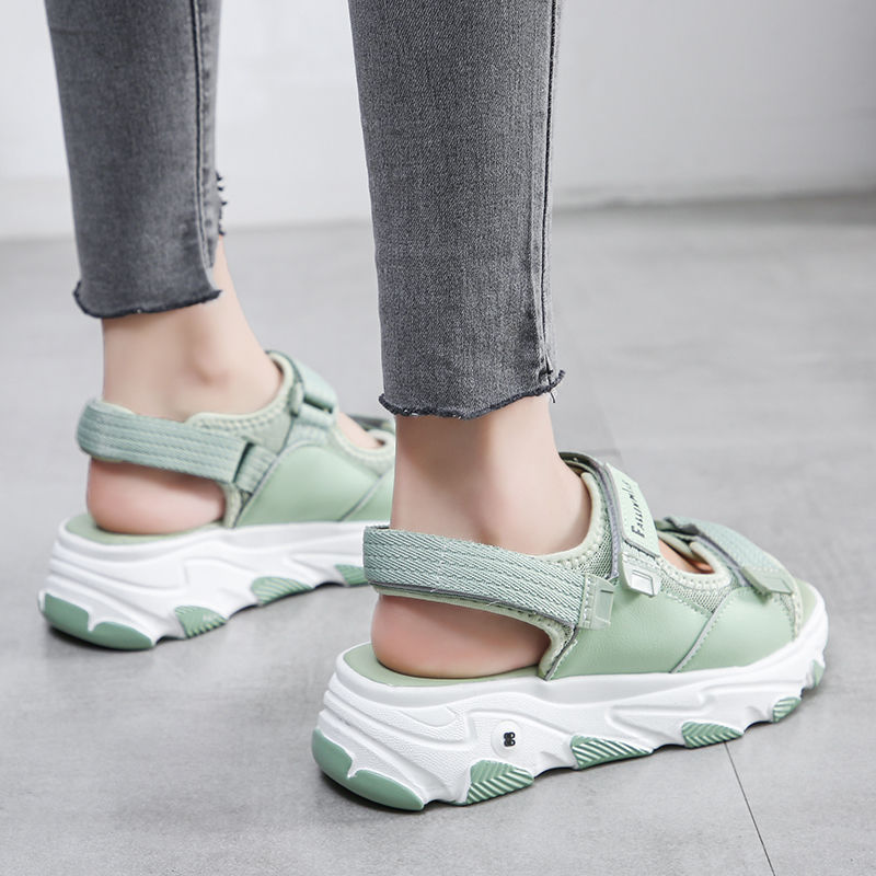 2020 L Shoes Sport Sandals Female Velcro Summer Network Hong Chao Fire Fashion Dad Sandals