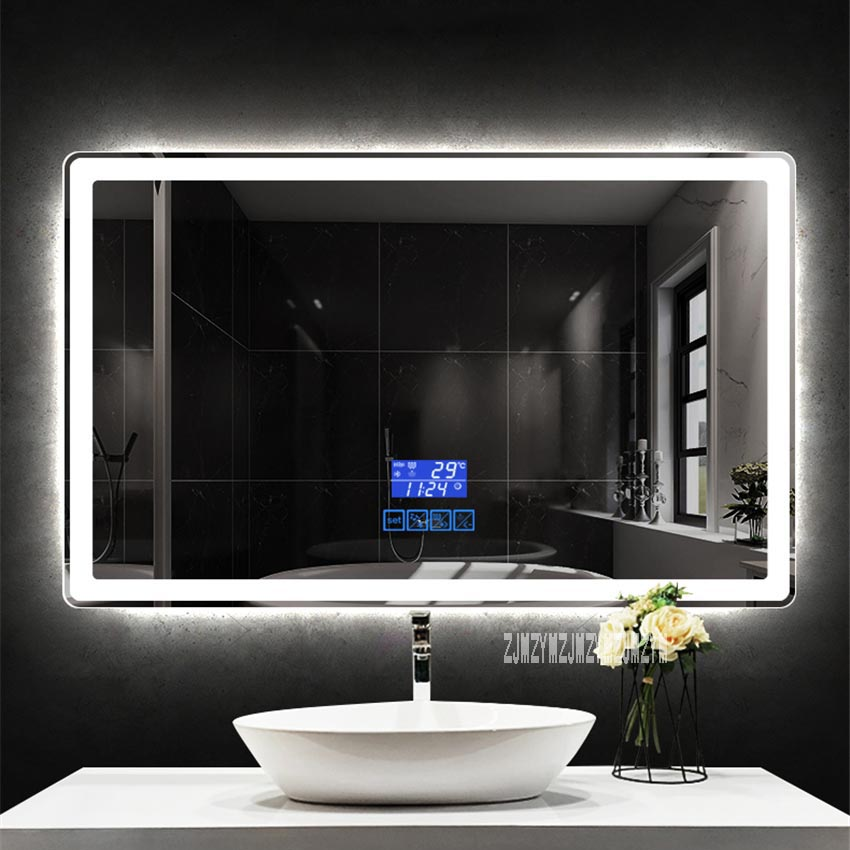 CTL305 Smart Bathroom Mirror Modern Simple Hotel Rounded Corner Wall-mounted Touch Screen Led Light Mirror 110V/220V (700*900mm)