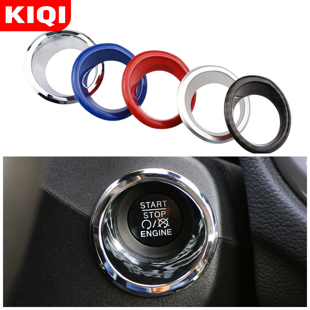 Car Ignition Key Switch Decoration Ring Circle Trim Stickers for <font><b>Jeep</b></font> <font><b>Compass</b></font> 2th Renegade 2015 - <font><b>2019</b></font> Accessories image