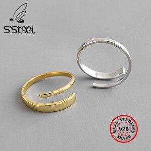 Женское серебряное кольцо S'STEEL 925 пробы, Золотое кольцо, подарок для подруги Joyas De Plata, ювелирные украшения
