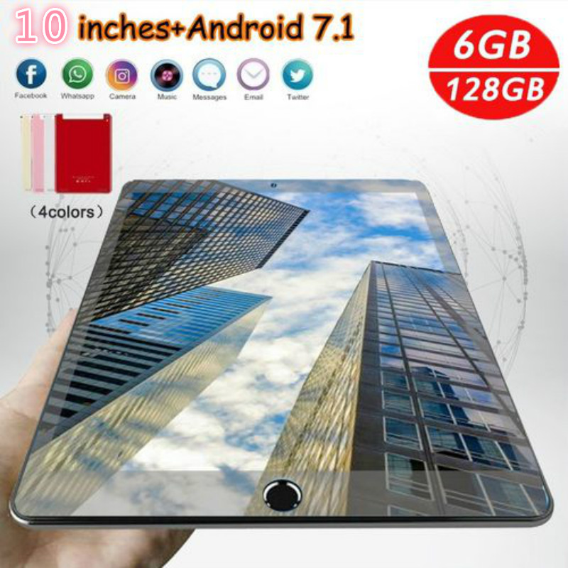 2020 New Tablets 10 Inch Android 8.0 Tablet Pc IPS Screen 10 Core 6G +128GB Pad Support Extend TF Card 4G Network WiFi Tablet PC