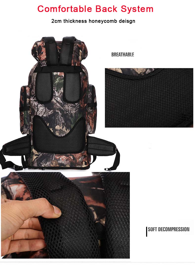 XL Tactical Backpack Back Benefits