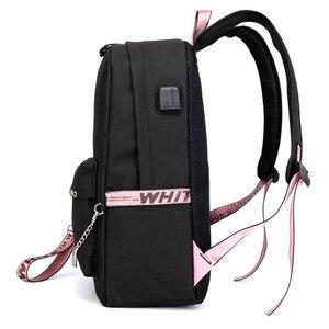 Image 4 - BPZMD Lover Loser Large School Bags for Teenage Girls Usb Charging Backpack Women Book Bag Big High School Bag Youth Leisure Col