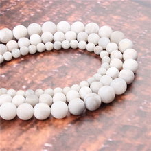 Wholesale Fashion Jewelry Frosted White Agate 4/6/8/10 / 12mm Suitable For Making Jewelry DIY Bracelet Necklace