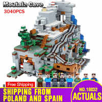 DHL In Stock 18032 Model Building Kit Blocks Bricks compatible with My Villiage 21137 Mountain Cave Set Kid Assembly Toys