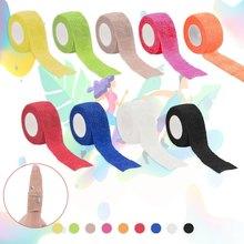 Bunte Sport Selbstklebende Elastische Bandage Wrap Band Hansaplast 2.5*450cm Für Knie Unterstützung Pads Finger Knöchel Palm schulter