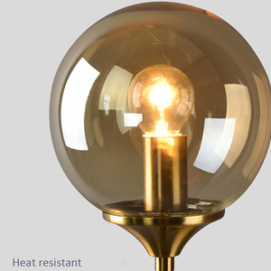 Image 3 - Artpad Northern Europe Led Wall Mounted Sconces Clear Gray Amber Glass Lampshade E14 Socket for Living room Washroom Wall Lamp