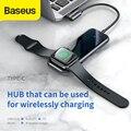 Baseus USB C концентратор с беспроводным зарядным устройством для iWatch type C usb-концентратор к Usb 3 0 HDMI для Macbook Pro с аудиоразъемом 3 5 мм