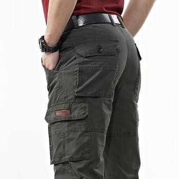 ICPANS Military Army Cargo Pants Men Cotton Baggy Denim Pants Man Multi-pockets  Casual Pants Trousers Overalls 2020