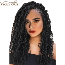 Vigorous Pre-Twisted Passion Spring Twists Crochet Braids 14 18inches Synthetic Hair Pre Looped Fluffy Extension