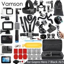 Vamson для Gopro набор аксессуаров для Gopro hero 7 6 5 Водонепроницаемый чехол защитная рамка 3 way монопод для спортивной экшн-камеры Go pro 7 5 Vamson VS11