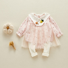 Newborn Baby Girl Romper Overalls For Kids Outerwear Baby Girl Clothes Cotton Printed Baby Girl Summer Outfits Infant Clothing cheap msnynieco Polyester O-Neck Covered Button Rompers Baby Girls Full M0530 Fits true to size take your normal size Cotton Blend
