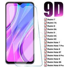 9D Cristal de protección para Xiaomi Redmi 9 9A 9C 8 8A 7 7A templado Protector de pantalla Redmi Note 7 8 8T 9S 9 Pro película de vidrio de seguridad