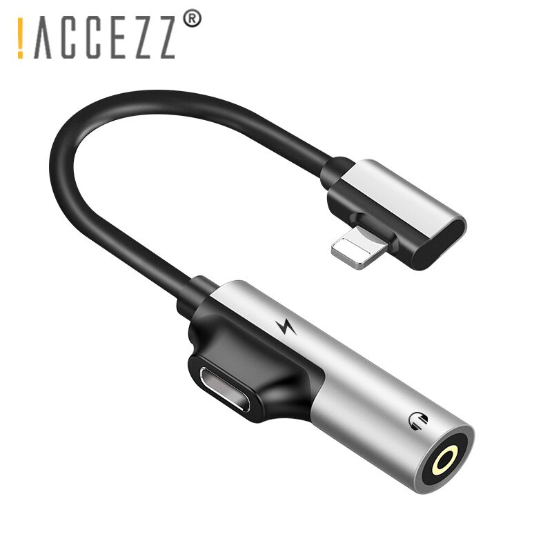 !ACCEZZ 3.5mm Earphone Connector For Iphone X 8 7 Plus 2 In 1 Lighting AUX Splitter Cable For Iphone Audio Charger Adapter Cable