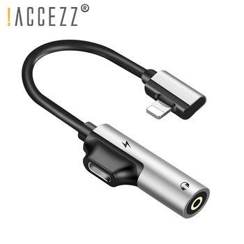 ¡! ACCEZZ 3,5mm conector de auriculares X 8 para iphone 7 Plus 2 en 1 iluminación divisor auxiliar Cable para iphone cargador y audio Cable adaptador