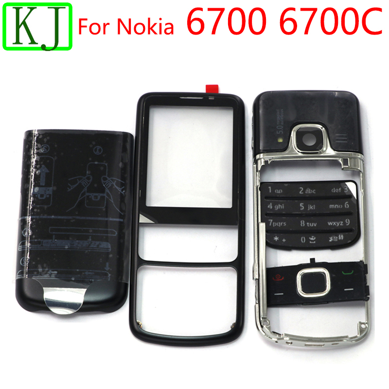 For <font><b>Nokia</b></font> <font><b>6700</b></font> Full <font><b>Housing</b></font> 6700C Classic Front Middle Frame Battery Cover Back Door English & Russia Keypad image