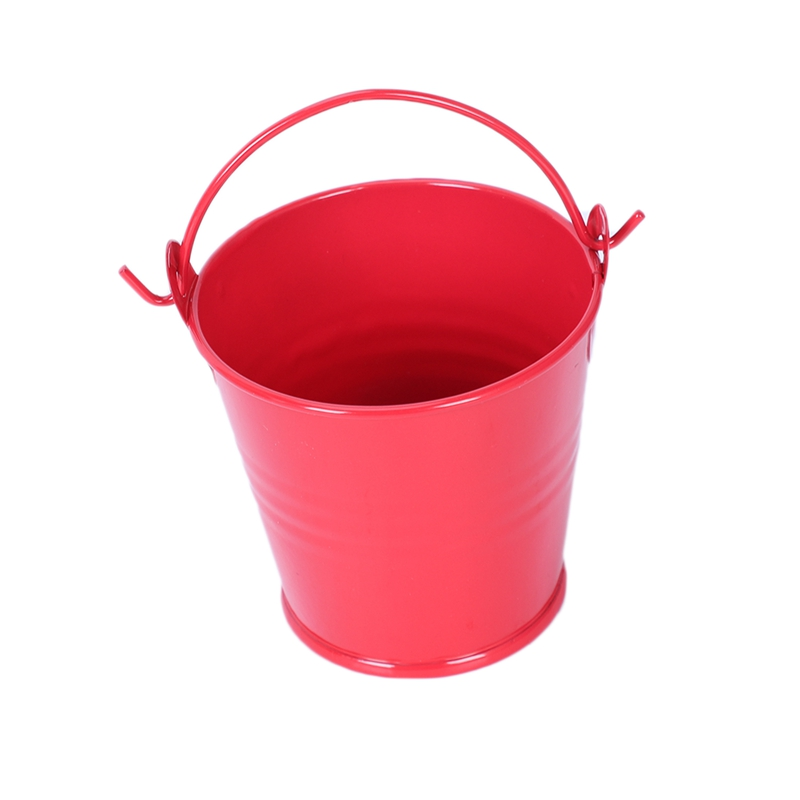 10Pcs Mini Buckets Candy Favours Pails Buckets Gifts,Red B8Y2