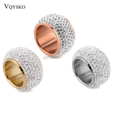 Wholesale shining full rhinestone finger rings for woman luxurious paragraph Crystal