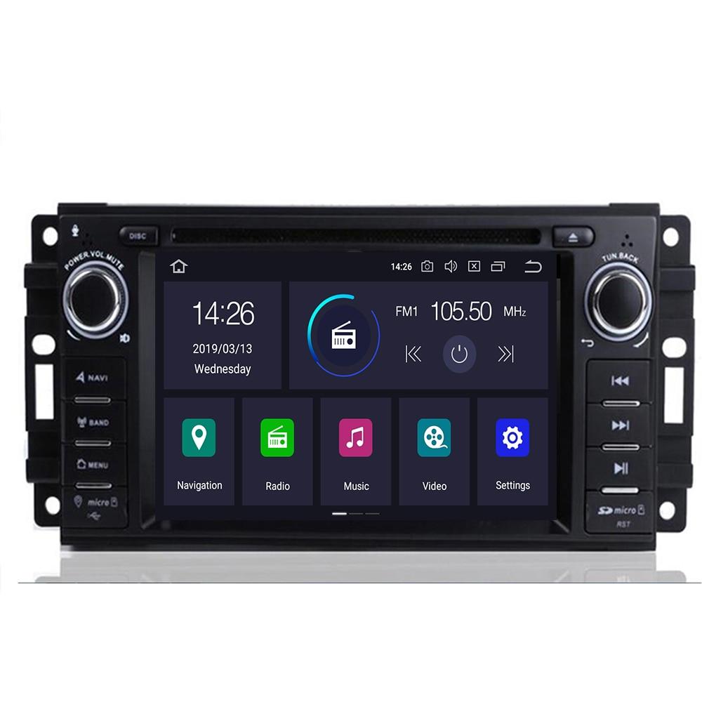 Android 9.0 Octa Core 4GB RAM Car DVD Radio GPS Player For Jeep Wrangler Compass Commander Grand Cherokee Dodge RAM 1500 2500